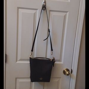 Coach Black leather crossbody  or small satchel